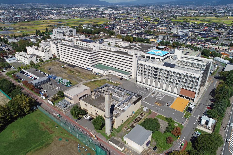 南側から見た医学部キャンパスの航空写真