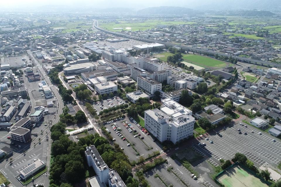 北側から見た医学部キャンパスの航空写真