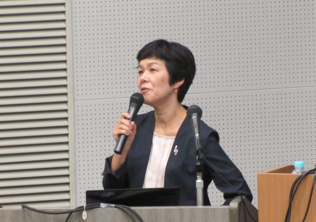 講演する田村教授