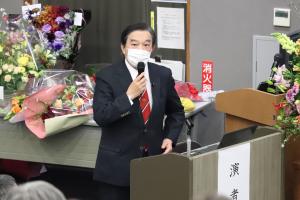 講義する武田病院長